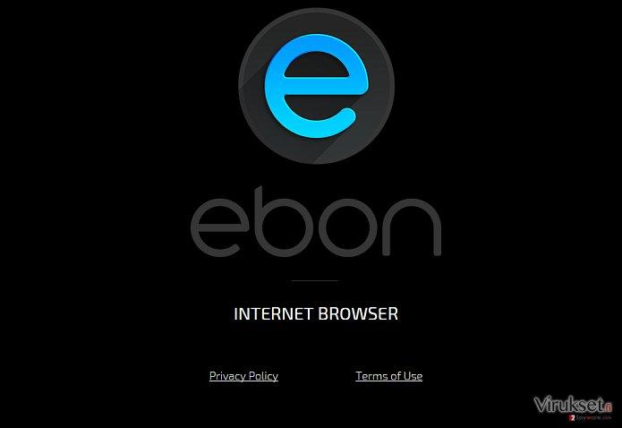 Ebon Browser virus kuvankaappaus