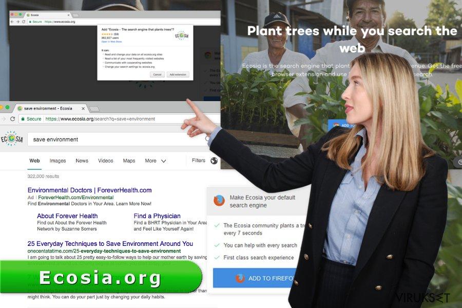 Ecosia.org viruksen kuva
