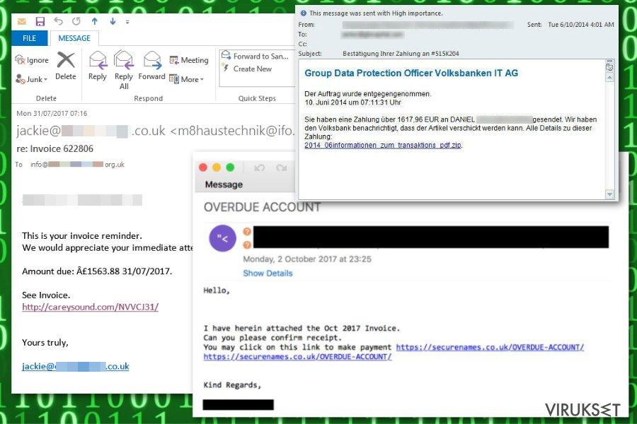 Emotet spam emails