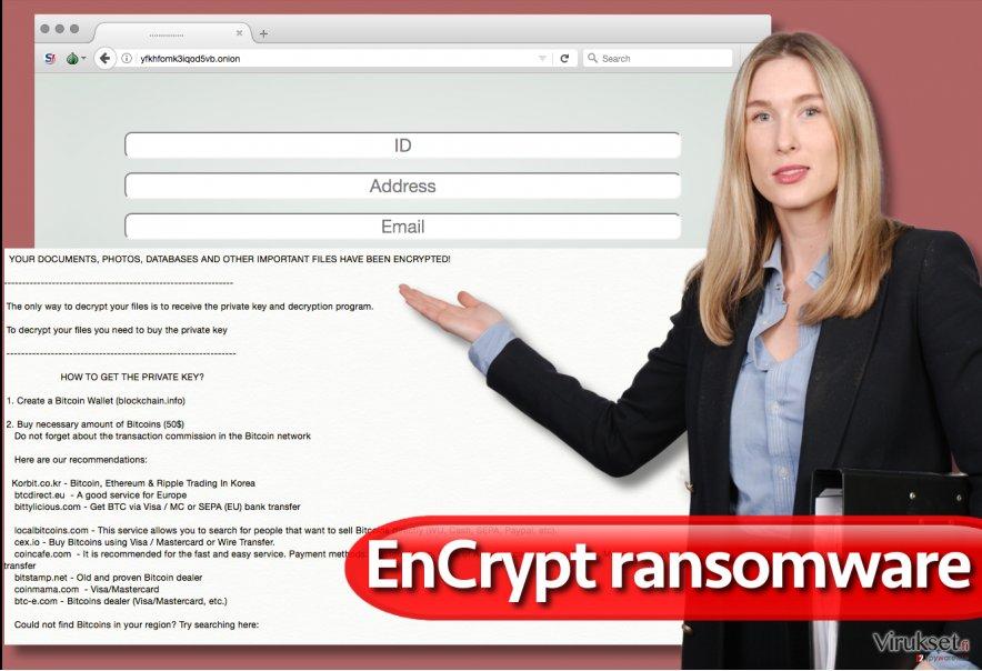 EnCrypt lunnasohjelma virus