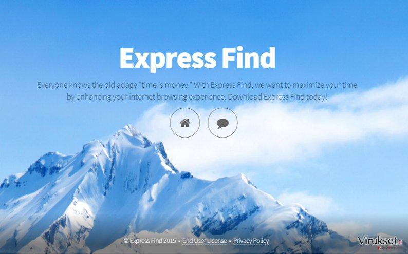 Express Find mainokset kuvankaappaus