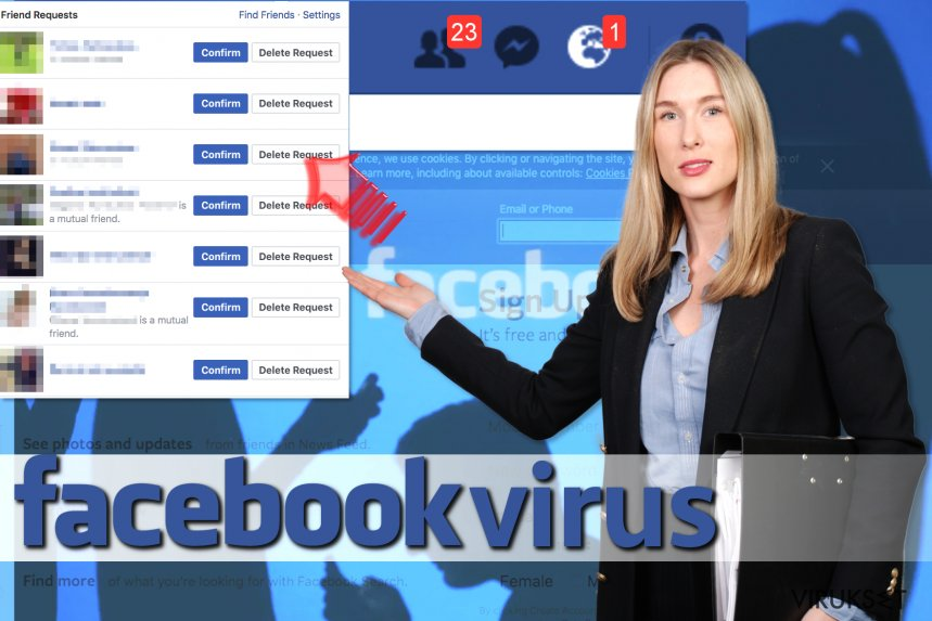 Facebook Friend Request virus kuvankaappaus