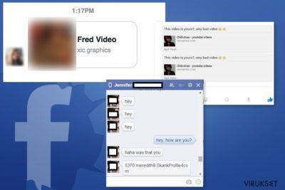 Facebook Message viruksen esimerkki