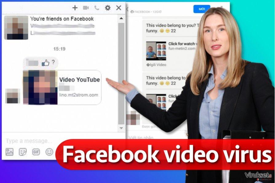 Facebook video virus kuvankaappaus