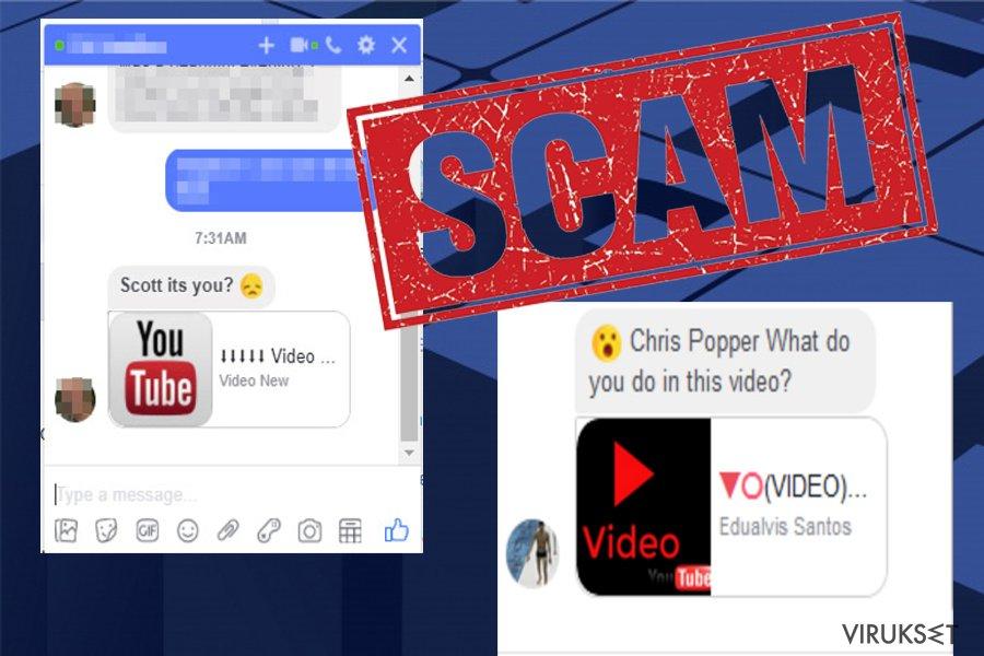 Facebook Messenger virus kuvankaappaus