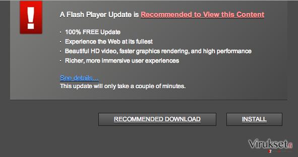 Trustedupdate.com pop-up virus kuvankaappaus