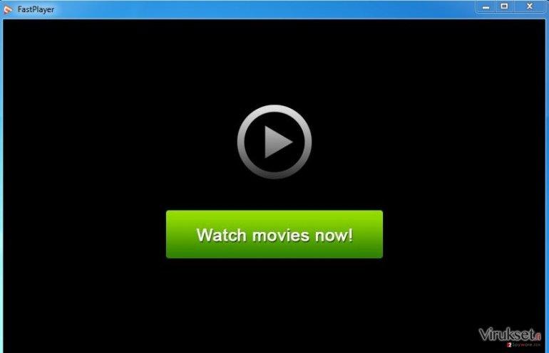 FastPlayer mainosohjelma kuvankaappaus