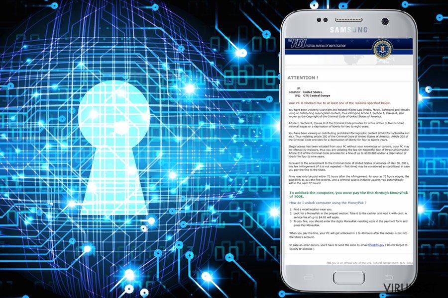 FBI Green Dot Moneypak Virus kuvankaappaus