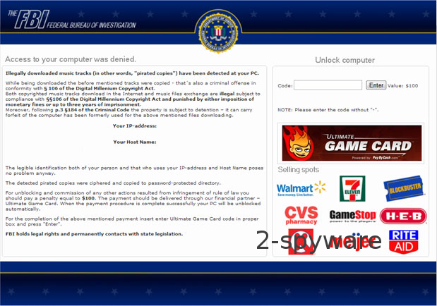 FBI Ultimate Game Card virus kuvankaappaus