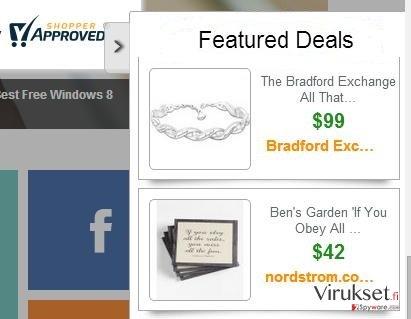 Featured Deals mainokset kuvankaappaus
