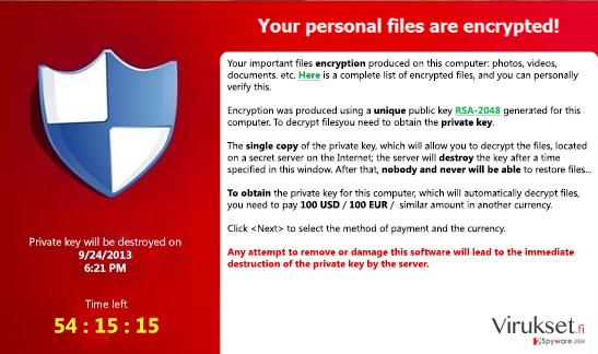 FessLeak ransomware kuvankaappaus