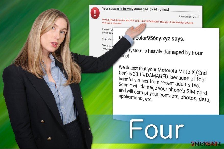 Four viruksella on useita versioita