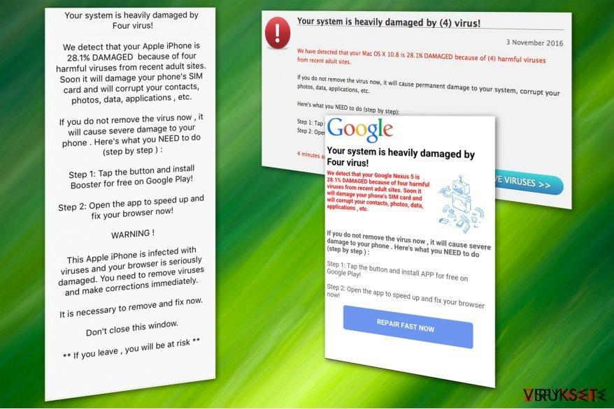 Four virus huijaus