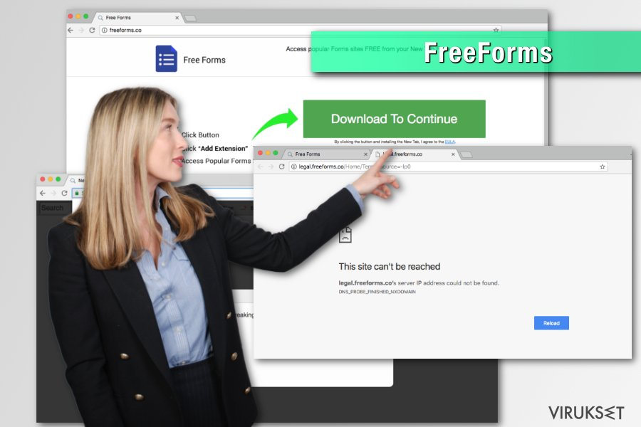 FreeForms browser hijacker