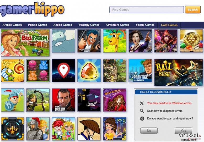 GamerHippo mainokset kuvankaappaus