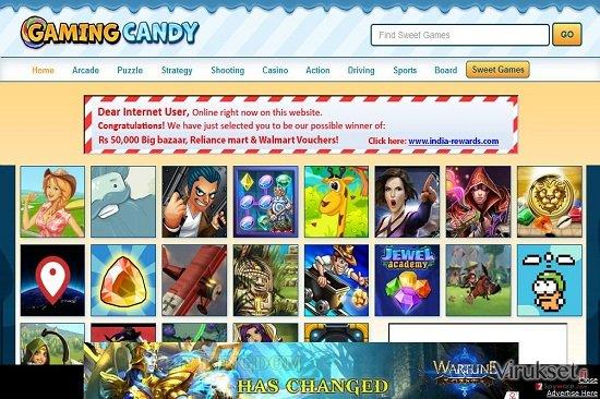 GamingCandy mainokset kuvankaappaus