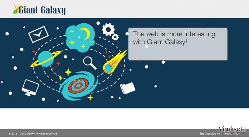 Giant Galaxy mainokset kuvankaappaus