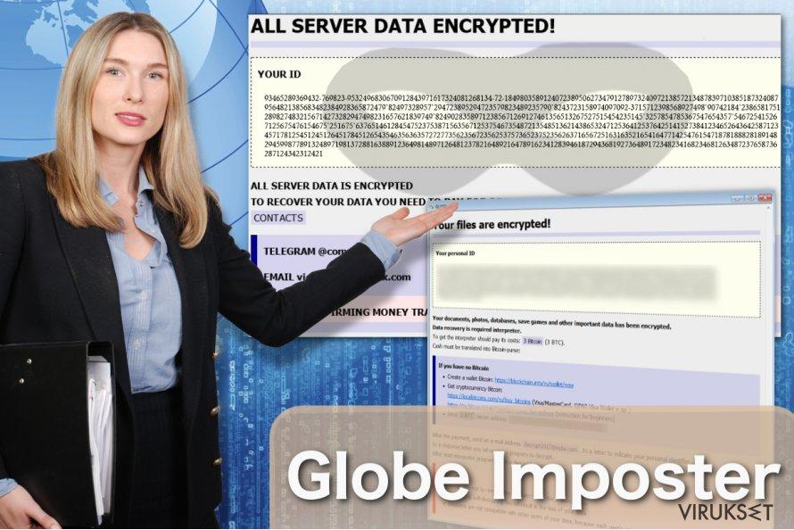 Globe Imposter lunnasohjelma viruksen