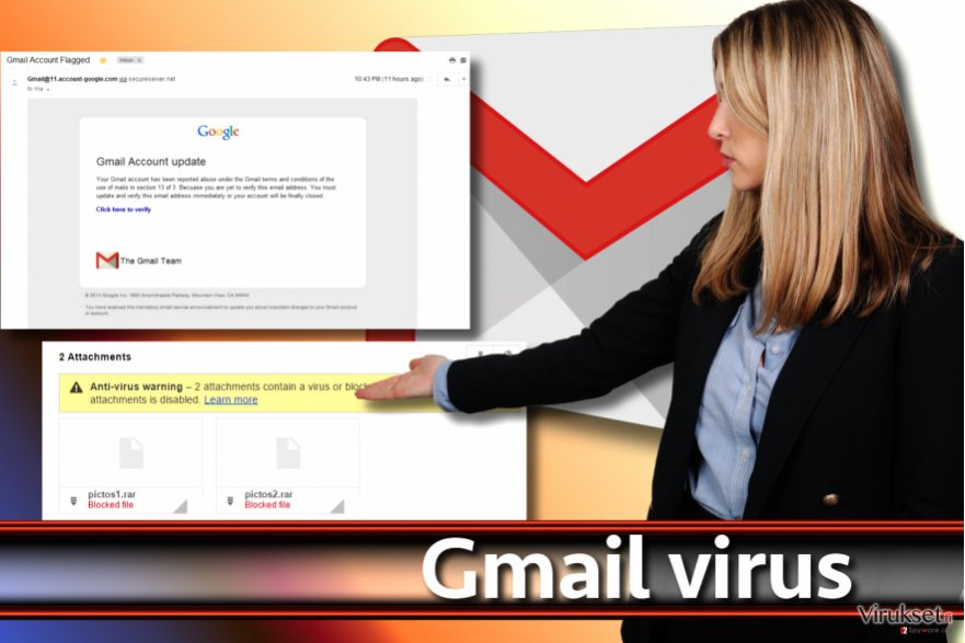 Gmail viruksen kuvankaappaus