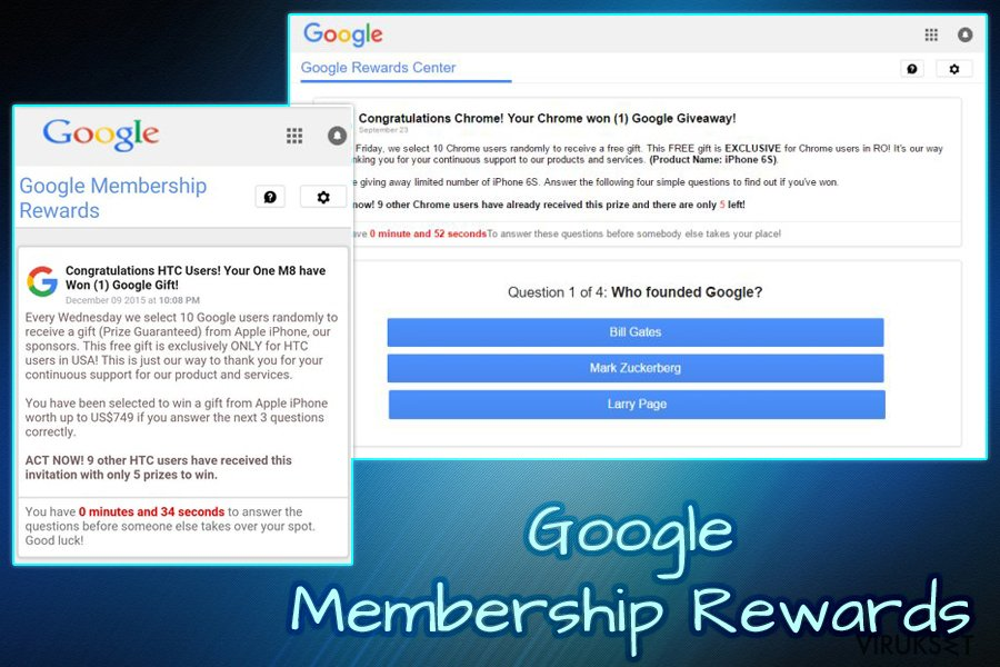 Google Membership Reward virus