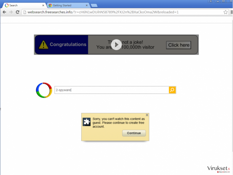 Google uudelleenohjaus kuvankaappaus