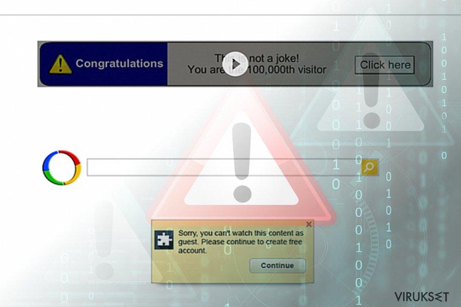 Google Uudelleenohjaus virus (hakutulokset)