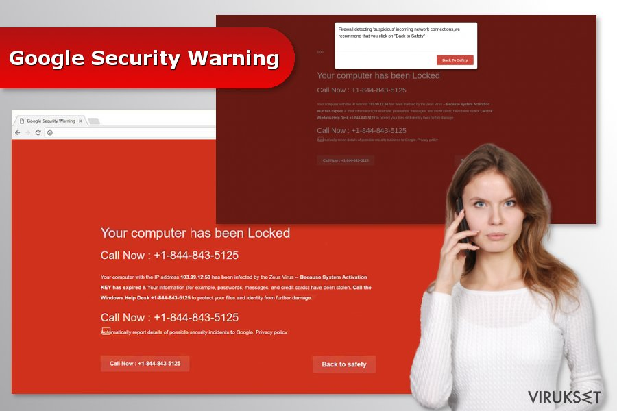 """Google Security Warning"" virus"