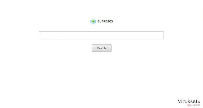 Guard-search.com uudelleenohjaus kuvankaappaus