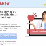 Health Alert mainokset kuvankaappaus