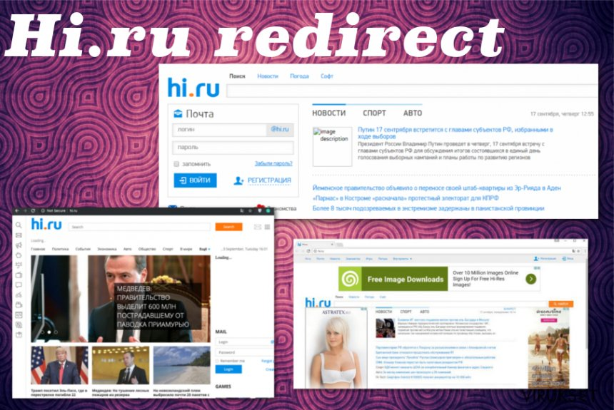 Hi.ru uudelleenohjaus kuvankaappaus