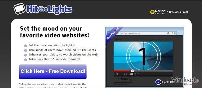 Hit The Lights mainosohjelma kuvankaappaus