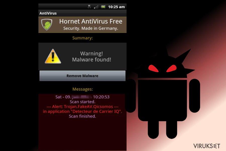 Android virus kuvankaappaus