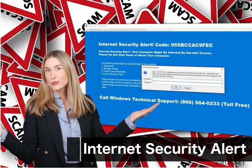 """Internet Security Alert"" huijausviesti"