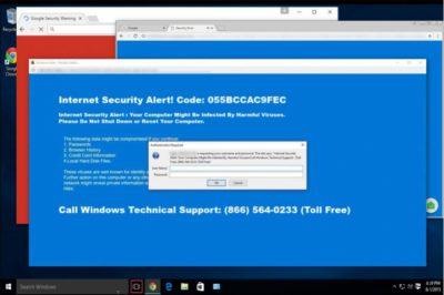 """""""Internet Security Alert"""" virus pop-upit"""