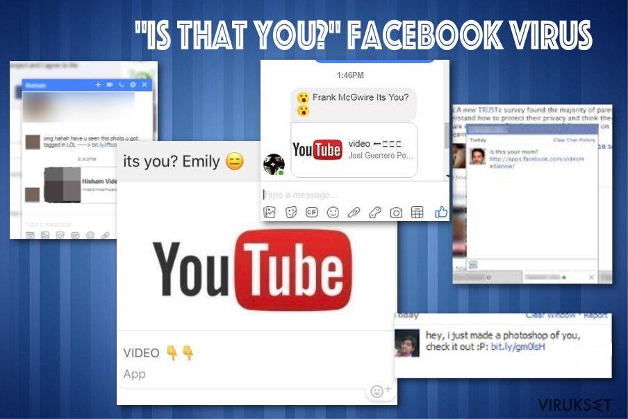"""Is that you"" Facebook messenger virus"