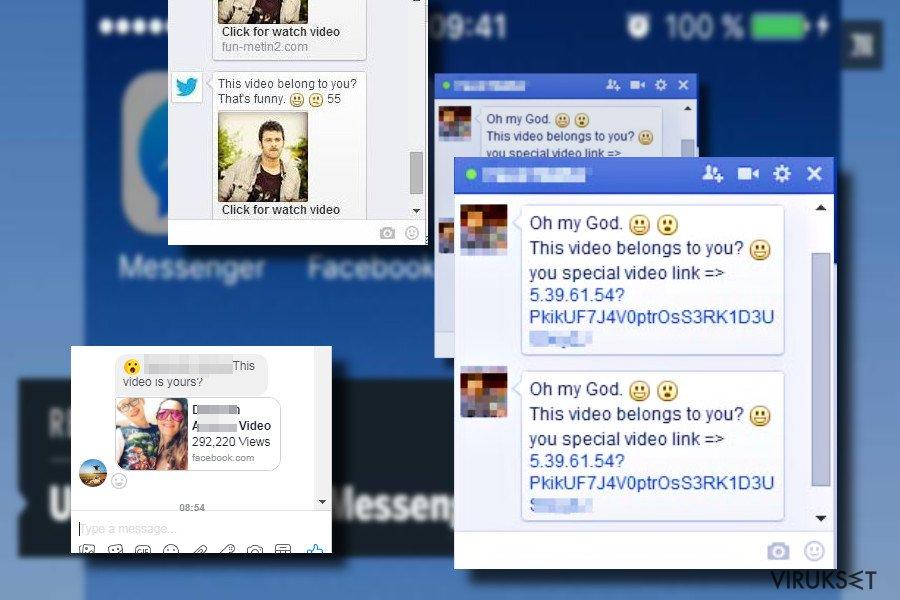 """Is that you"" Facebook virusviesti"