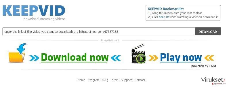 KeepVid.com kuvankaappaus