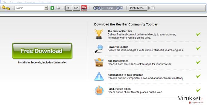 KeyBar Työkalupalkki kuvankaappaus