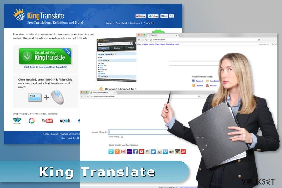 King Translate viruksen esimerkki