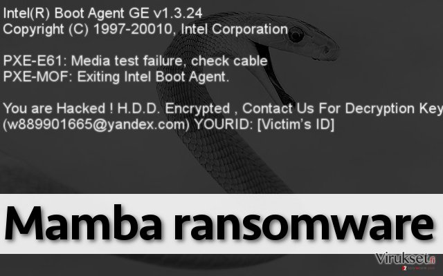 Mamba ransomware lock screen