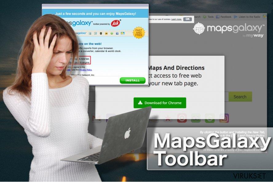 MapsGalaxy työkalupalkki kuvankaappaus