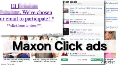 Maxon Click mainokset ovat todella tunkeilevia