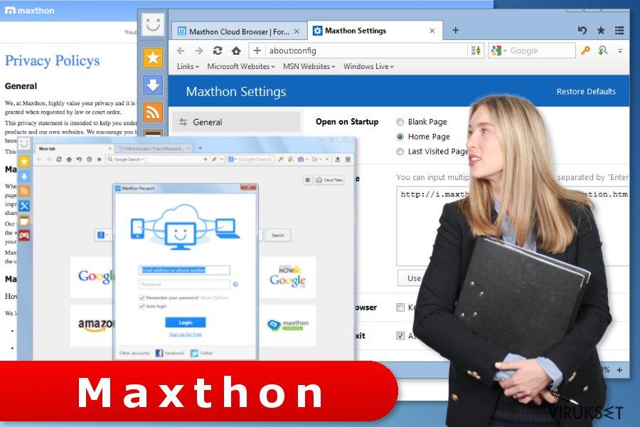 kuva Maxthon selaimen asetuksista