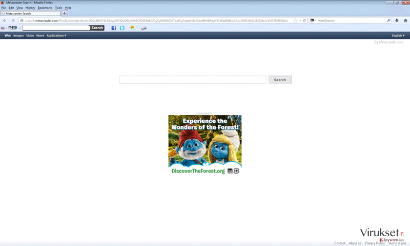 Metacrawler Toolbar kuvankaappaus
