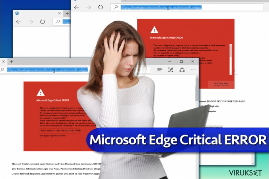 """Microsoft Edge Critical ERROR"" virus"