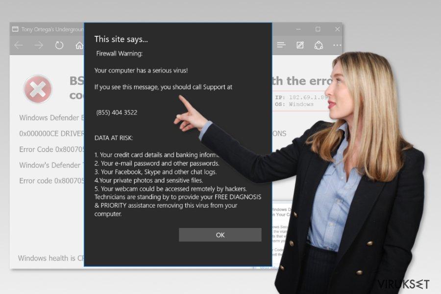Microsoft Edge tukihuijaus virus