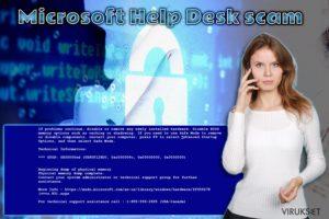 Microsoft Help Desk Teknisen tuen huijaus