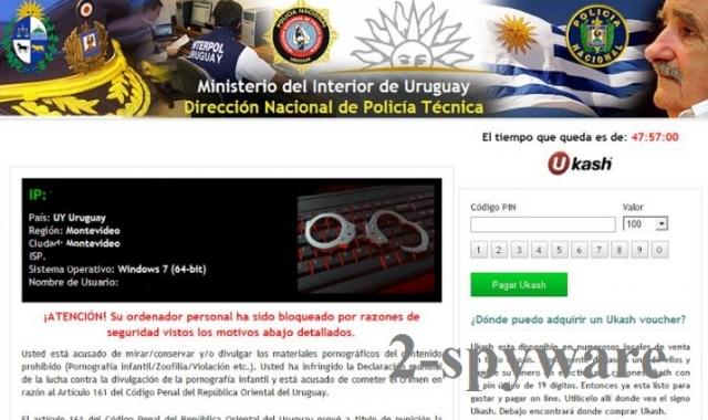 Ministerio del Interior de Uruguay virus kuvankaappaus