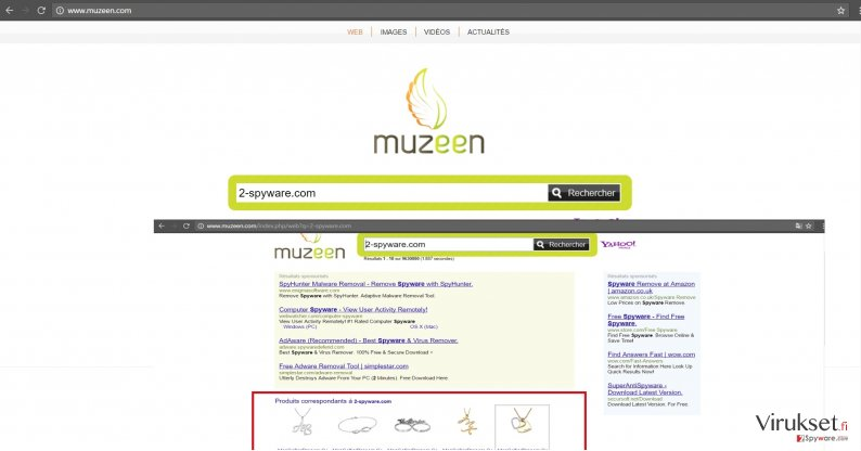 The image revealing muzeen.com virus