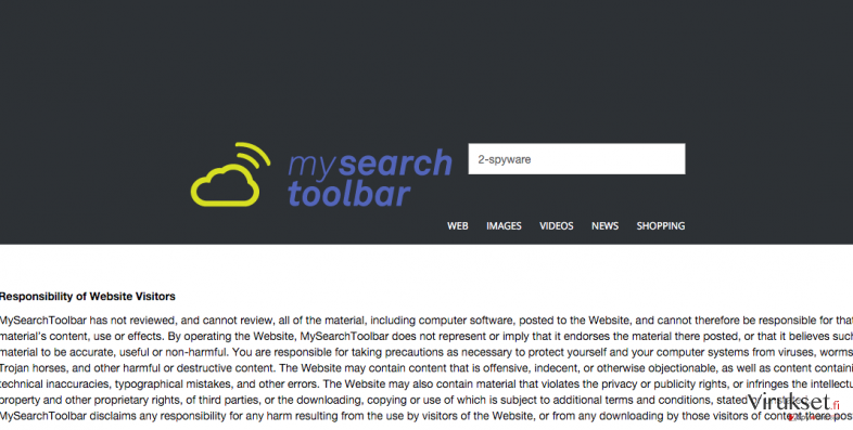 MySearchToolbar hijack example and its responsibility of website visitors